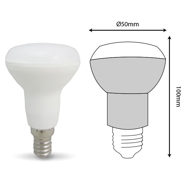 Lot de 6 ampoules LED E14 R50 6W 510Lm