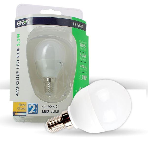 Bombilla LED E14 6W P45