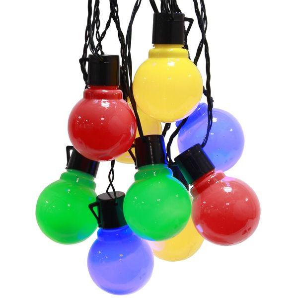 Guirlande fête guinguette multicolore pour jardin et extérieur ...