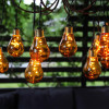 Guirlande secteur 10 ampoules micro LED ambrée