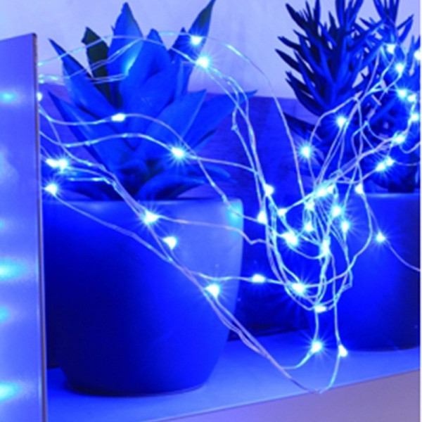 Guirnalda de 150 micro LED azul animados
