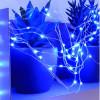 Guirlande 150 micro LED bleu animée