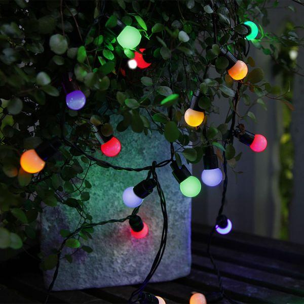 Guirlande LED festive billes multi color  intérieur extérieur