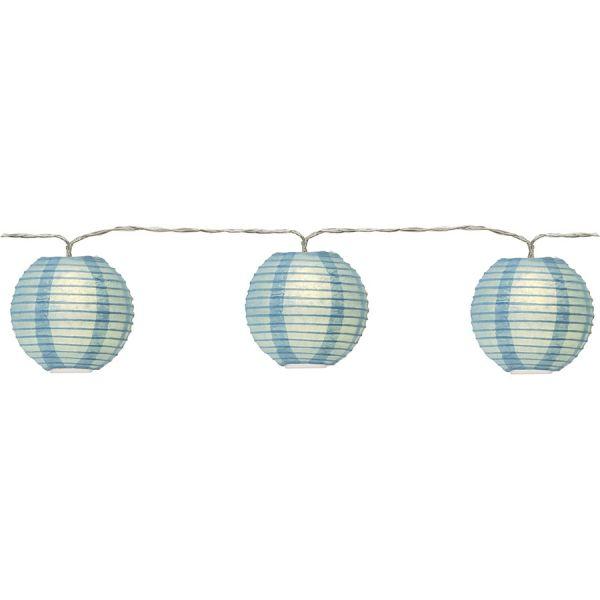 Guirlande lanterne bleue en papier LED
