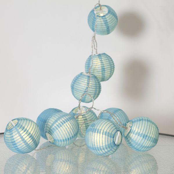 Guirnalda de la linterna de papel azul LED