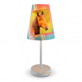 Lampe a poser conique cheval 32cm