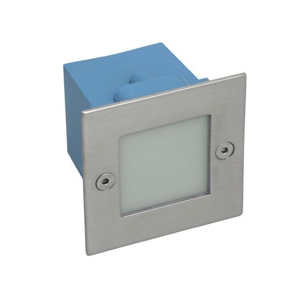 Applique led extérieur TAXI SMD encastrable carré blanc chaud