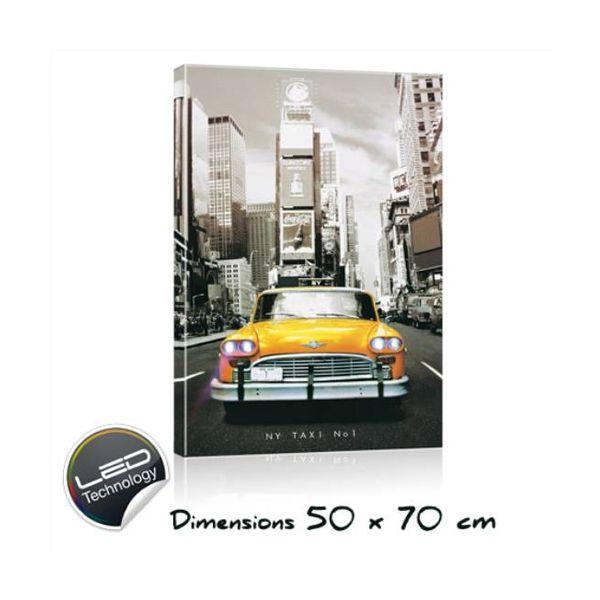 Cadre lumineux taxi NewYork 50x70cm