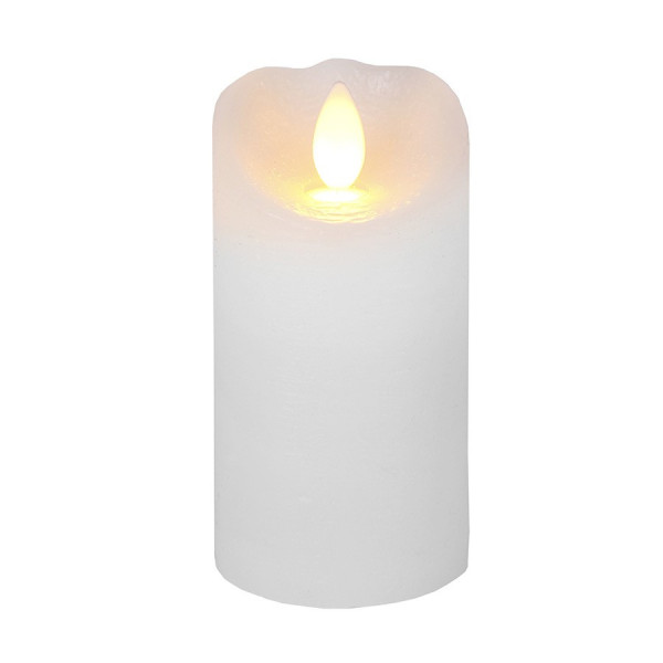 Bougie LED Cire GLOW  Flamme vacillante 10cm