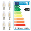Lot de 6 Ampoule LED E14 2.2W 250 Lumens
