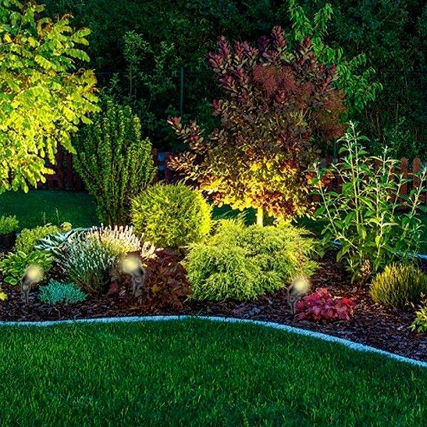 Lot De 6 Spots Exterieurs A Piquer Pour Led Gu10 Eclairage De Jardin