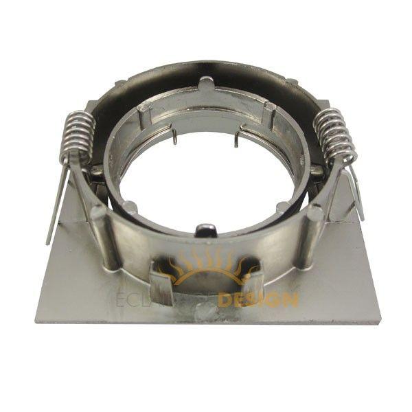 Support orientable carré en acier brossé