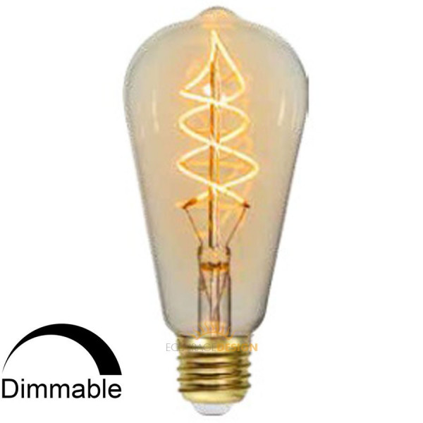 ampoule led e27 spiral filament 3w dimmable eclairage design. Black Bedroom Furniture Sets. Home Design Ideas