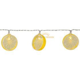 Guirlande rondelle de citron sur piles