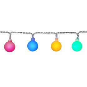 Guirlande LED 10 mètres 50 boules multicouleur (guinguette)