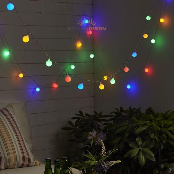 Guirnalda LED de 10 metros 50 bolas multicolor (guinguette)