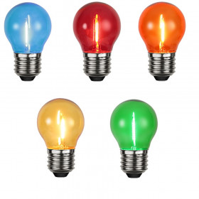 Lot de 5 ampoules E27 Filament LED couleur Guinguette