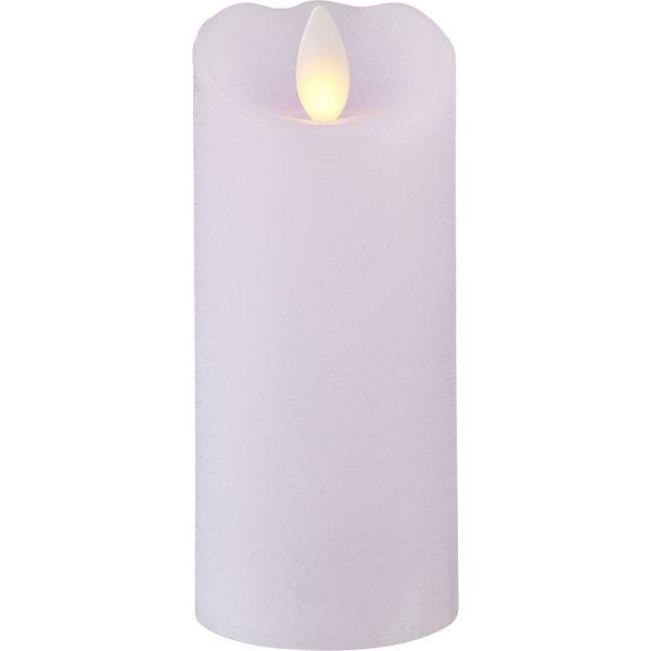 Bougie  en cire violette pâle 13cm