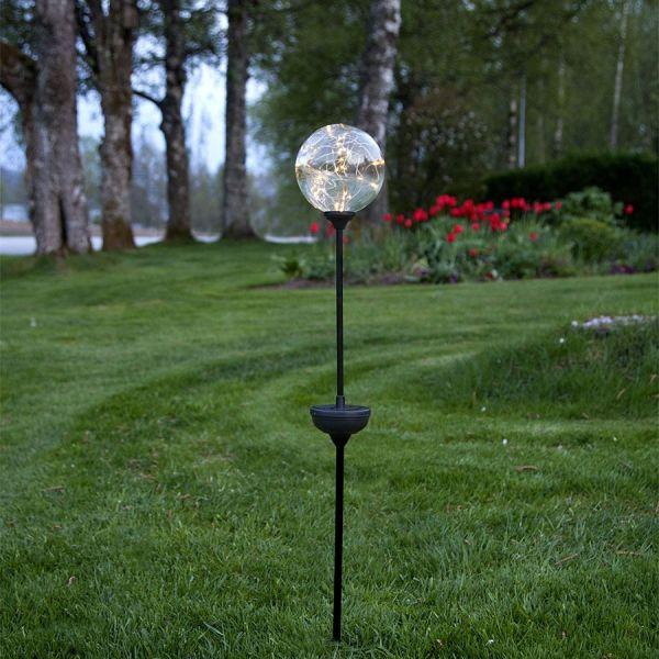 Balise solaire LED avec boule transparente