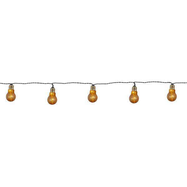 Guirlande 5 ampoules ambrées