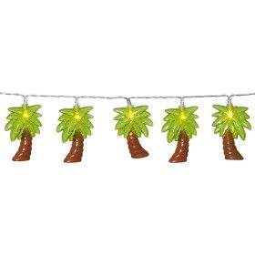 Guirlande de 10 Palmiers sur piles
