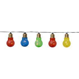 Guirlande décorative 5 ampoules colorées