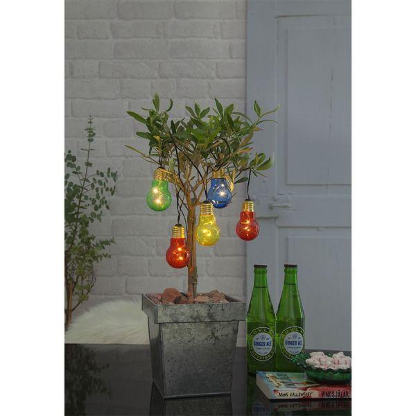 Guirlande Decorative 5 Ampoules Colorees Sur Piles Eclairage Design