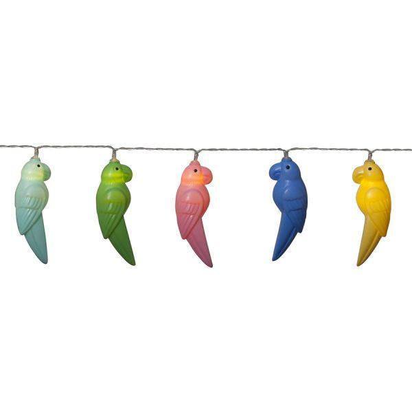 Guirlande 10 Perroquets colorés