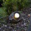 Rocher solaire extérieur blanc chaud