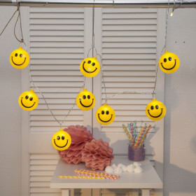 Guirlande de 8 Smiley Happy