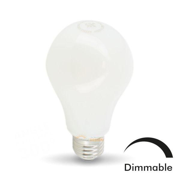 ampoule led e27 10w eq 75w mat dimmable en verre - eclairage design