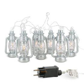 Guirlande de 8 lanternes couleur INOX IP44