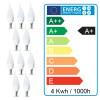Lot de 10 Ampoule LED E14 Flamme 4W eq 30W