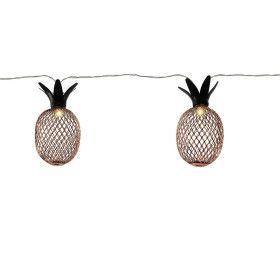 Guirlande solaire de 10 ananas LED