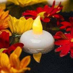 Lot de 4 bougies flottantes blanches
