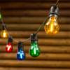 Guirlande Guinguette E27 filaments LED 10 ampoules Multicolores