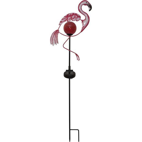 Flamant Rose Solaire sur piquet