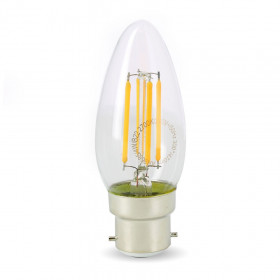Ampoule Led 4W (40W) B22 Filament Flamme Blanc chaud 2700°K