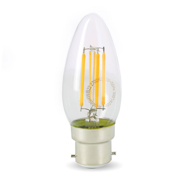 Ampoule Led 4W (40W) B22 Filament Flamme Blanc chaud 2700°K