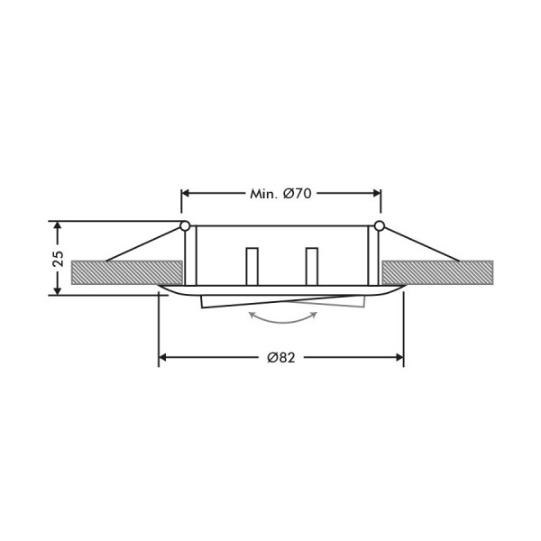 Lot de 12 supports encastrable orientable blanc D82