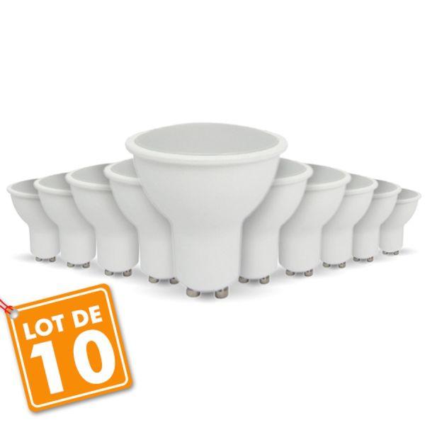 lot de 10 ampoules led gu10 5w eq 40w eclairage design. Black Bedroom Furniture Sets. Home Design Ideas