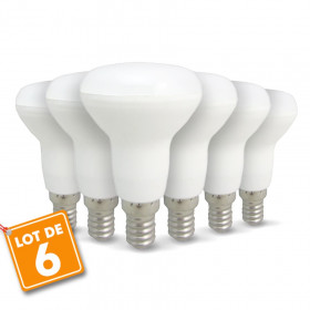 Lot de 6 ampoules LED E14 R50 6W 510Lm