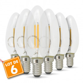 Lot de 6 Ampoule LED E14 2.2W 250 Lumens