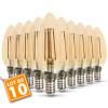 Lot de 10 ampoules E14 Filament Ambré 4W