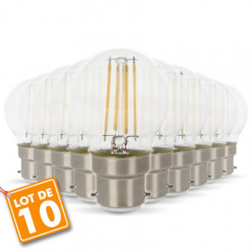 Lot de 10 ampoules 4W B22 G45