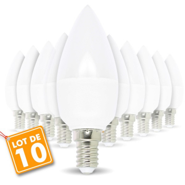 Lot de 6 ampoules E14 6W eq 50W Blanc naturel ARUM