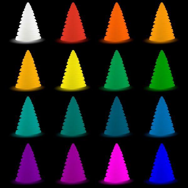 Sapin de Noël LED luminaire extérieur rechargeable