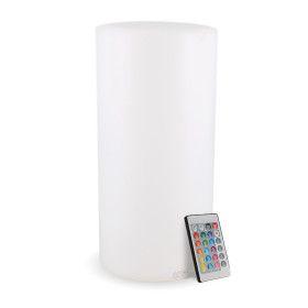 Centre de table lumineux rechargeable cylindre H22cm