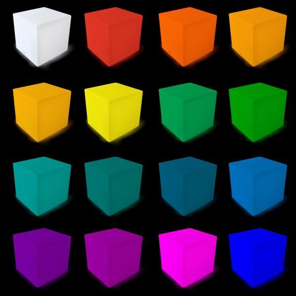 Cube lumineux rechargeable 40cm