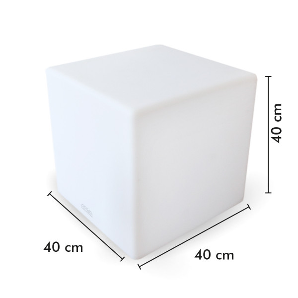 Cube lumineux rechargeable 40cm